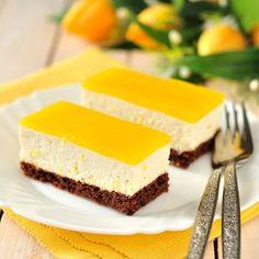 Entremets à la mangue et chocolat sans cuisson