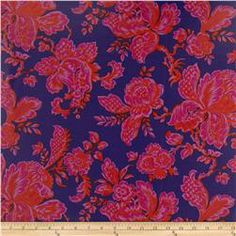 Vinyl pink flowers on navy Spring 2014 Plastic Tablecloth, Clothes Crafts, Pink Flowers, Fabric Design, Sewing Projects, Spring 2014, Summer 2014, Quilts, Honey