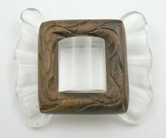 Lucite & Wood Bow Brooch - Garden Party Collection Vintage Jewelry