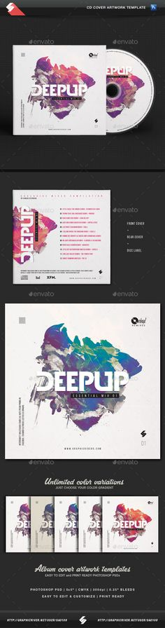 Deep Up - Dj Mix CD Cover Artwork Template