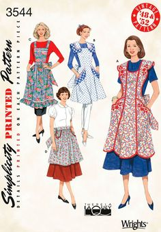 Vintage Aprons, Retro Aprons, Old Fashioned Aprons & Patterns Retro Aprons Pattern $7.89 AT vintagedancer.com