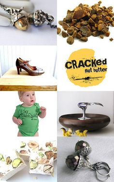 """My Purple Acorn Earrings featured here in """"Going Nuts"""", with a few other JETS! --Pinned with TreasuryPin.com"""