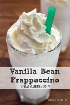 You can save a whole lot of money by making this copycat Starbucks Vanilla Bean . CLICK Image for full details You can save a whole lot of money by making this copycat Starbucks Vanilla Bean Frappuccino at home! So easy. Köstliche Desserts, Delicious Desserts, Yummy Food, Plated Desserts, Slow Cooker Desserts, Smoothie Drinks, Smoothie Recipes, Café Chocolate, Delicious Chocolate