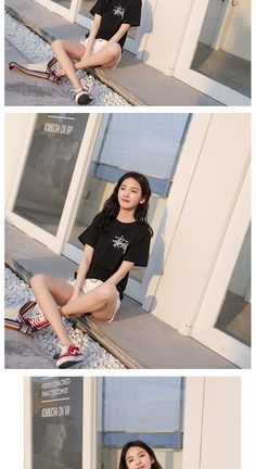Black And White Tees, Your Design, Female, Outfits, Suits, Kleding, Outfit, Outfit Posts, Clothes