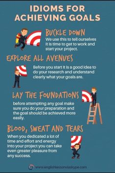 Idioms Related to Goals English Idioms for Achieving Goals. English Idioms related to Goals.English Idioms for Achieving Goals. English Idioms related to Goals. Improve English Speaking, Learn English Grammar, English Writing Skills, English Vocabulary Words, Learn English Words, English Idioms, English Phrases, English Language Learning, Teaching English