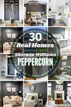 Sherwin Williams Peppercorn: Is it the right dark & moody paint shade for your home? See it in 30 real homes so you can decide! Decorating Your Home, Diy Home Decor, Decorating Ideas, Decor Ideas, Diy Ideas, Home Improvement Projects, Home Projects, Thrifty Decor Chick, Paint Shades