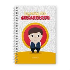 Cuaderno XL - Las notas del arquitecto, encuentra este producto en nuestra tienda online y personalízalo con un nombre. Notebook, Cover, Big Architects, Notebooks, Report Cards, Day Planners, The Notebook, Exercise Book
