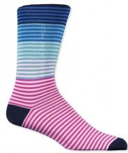 Lots of blue and pink stripes on socks by J.M. Dickens for men.