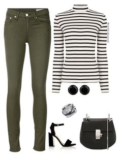 """""""Stripes"""" by style-by-shannon-leeper ❤ liked on Polyvore featuring rag & bone/JEAN, Oasis, Sam Edelman, Chloé and Charriol"""