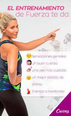 #AmoEntrenar ❤  #AmoCurves 🙌 ¡Todo esto y más nos da el Entrenamiento de Fuerza! 💪#ejercicio #salud #entrenar #curves #elmejorgym