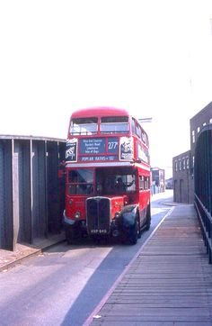Back in the coming over bridge off of the Island. Rt Bus, East End London, Routemaster, Double Decker Bus, Bus Coach, London Bus, London Transport, Busse, London Photos