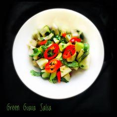 Green Guava Salsa | Raw Guava Salad