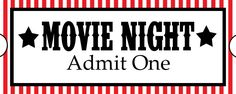 Sweet Daisy Designs: Free Printables: Home Movie Theater Night - . Movie Night Gift Basket, Movie Night Party, Movie Gift, Family Movie Night, Family Movies, Movie Nights, 2 Movie, Party Time, Ticket Cinema