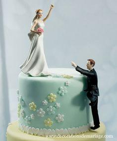 Comique se gateau de mariage!