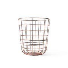 Modern Copper Wire Wastebasket