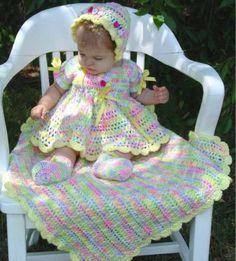 Maggie's Crochet · Springtime Baby Set Crochet Pattern