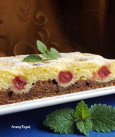 AranyTepsi: Meggyes kétszínű sütemény Korn, Vanilla Cake, Cheesecake, Pudding, Pie, Sweets, Dishes, Recipes, Cakes