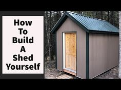 Building a shed by yourself. How to build and make your own garden shed man cave tiny house by yourself diy. This is how I built my 8 x 12 shed by myself jus. Solid Sheds, Garbage Shed, Garden Storage Shed, Storage Sheds, Bike Storage, Garage Storage, Workshop Shed, Pallet Shed, Build Your Own Shed