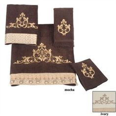 Monaco Scroll Embroidered Decorative Towels by Avanti - Decorative Bath Towels  http://pinnedgift.com/Y4Cceh