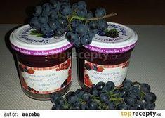 Marmeláda z hroznového vina recept - TopRecepty. Homemade Jelly, Preserving Food, Preserves, Pesto, Nutella, Mason Jars, Smoothie, Pudding, Desserts