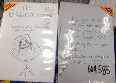 hand drawn video game artwork on a preowned game The Biggest Loser