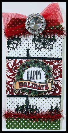 Tag using Teresa Collins Designs Christmas Home Collection.