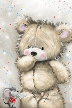 Love & hug Quotes : ♥ Simon Elvin Art ♥ - Quotes Sayings Tatty Teddy, Teddy Bear Images, Teddy Bear Pictures, Christmas Greeting Cards Images, Christmas Greetings, Cute Images, Cute Pictures, Blue Nose Friends, Cute Animal Illustration