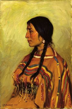 Joseph Henry Sharp, Native American Blackfoot Woman