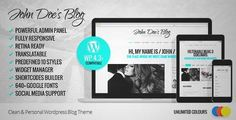 Download and review of John Doe's Blog - Clean Wordpress Blog Theme, one of the best Themeforest Magazine & Blogs themes {Download & review at|Review and download at} {|-> }http://best-wordpress-theme.net/john-doe-s-clean-download-review/