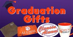 Shop out graduation gifts for the future Clemson student or the Clemson Alumni in your life!  Click the photo to browse
