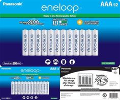 Panasonic Eneloop AAA 2100 Cycle Ni-mh Pre-charged Rechargeable Batteries for sale online Travel, Ebay, Garden, Products, Viajes, Garten, Gardens, Trips, Traveling
