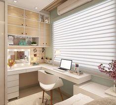 Small room design – Home Decor Interior Designs Small Room Bedroom, My Room, Girl Room, Bedroom Decor, Modern Bedroom, Home Office Design, Home Office Decor, House Design, Home Decor