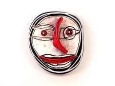 Abstract art, Abstarct Face, Ceramic wall art, Crazy art, Ceramic mask, Man mask