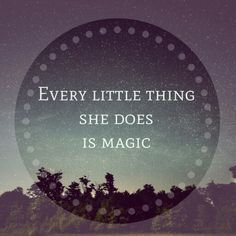 Sleeping at last.  Every little thing she does is magic