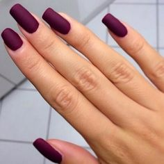 Matte finished Plum Perfection nails #COTM