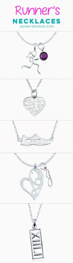 Shop the largest selection of sterling silver runner's necklaces, exclusively from Gone For a Run!