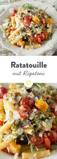 Regenwetter? Schlechte Laune? Oder einfach Appetit auf buntes Gemüse? Es gibt immer einen Grund, den Bauch mit Ratatouille und Rigatoni zu füllen.