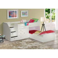 Berg Sierra Twin L-Shaped Bunk Bed & Reviews   Wayfair