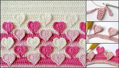 Kalpli Bebek Battaniyesi Yapımı  Bebek Örgü Modelleri :http://hobiler.net/kalpli-bebek-battaniyesi-yapimi.html