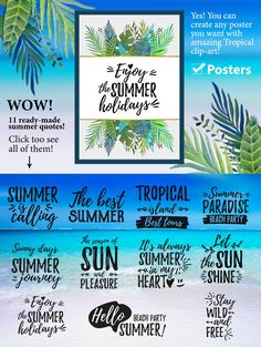 Tropical summer. Wedding and more by Art Loft on @creativemarket