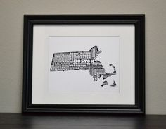 Cities of Massachusetts Collage Print