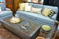 love that pewter bench/ottoman - The Refind Room in St Louis