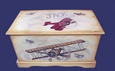 BabyZone: 13 Ideas for a Vintage Airplane Nursery    Vintage Airplane Toy Chest