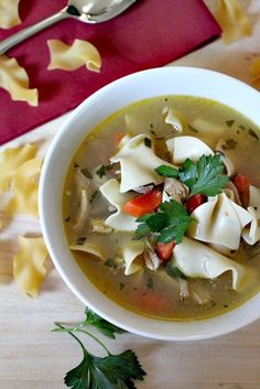 Everybody needs a chicken noodle soup recipe