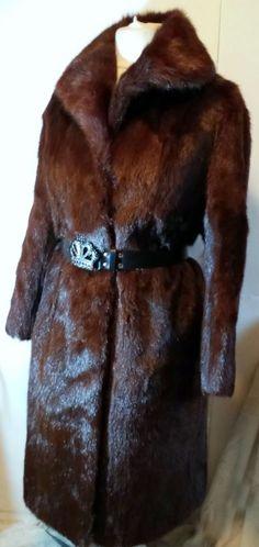 G#tumbrl#instagram#avito#ebay#yandex      ENUINE  REAL marmot fur Long coat with collar size L #Unbranded #BasicCoat