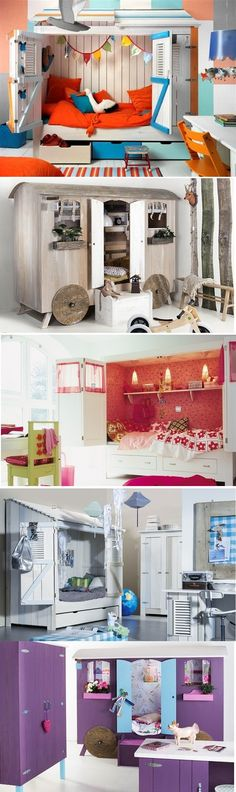 Kids cabinet beds