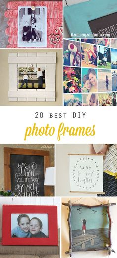 20 best DIY photo frame tutorials on the web - these are cool!