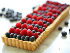 4th of July Berries Tart with White Chocolate Pastry Cream & Rich Almond Egg Yolk Crust