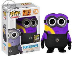 Purple Dave - Despicable Me 2 - Exclusive Funko Pop! Pop Vinyl Figures, Despicable Me 2, Daddy Yankee, Pop Minion, Funny Minion, Minion Stuff, Evil Minions, Pop Vinyl Collection, Funko Pop Display