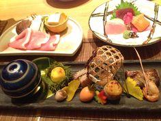 温泉宿の夕食メニュー